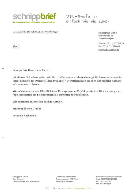Allgemeine Anfrage Brief Muster Vorlage Allgemeine Anfrage Zum