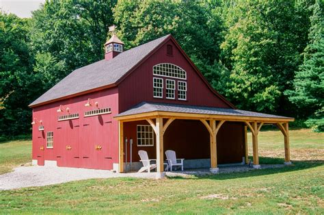barns garages lean to overhangs the barn yard great country garages