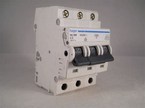 Mcb Broco 6a 3 hager mcb 6 pole 3 phase circuit breaker type c 6a 463306 nc306 new willrose