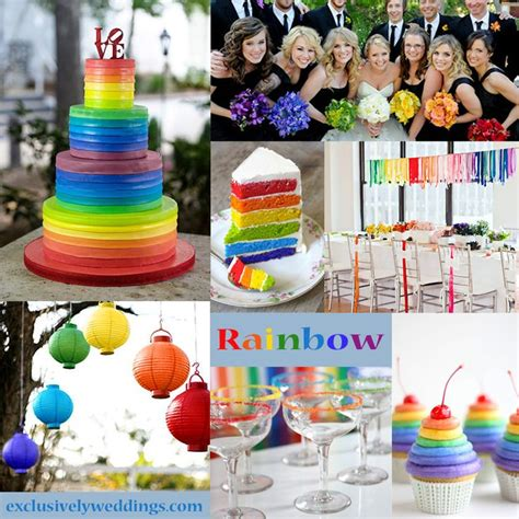 29 best rainbow wedding images on rainbow wedding rainbow colours and birthdays