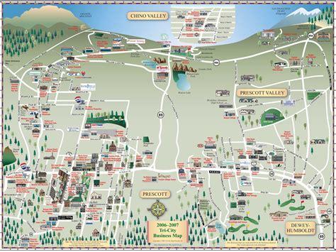 arizona tourist map prescott tourist map prescott arizona mappery