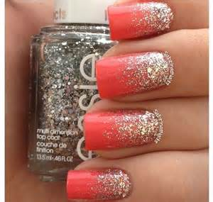 coral color nails coral nails wedding coral color