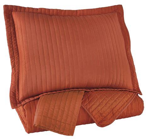 orange queen comforter raleda orange queen comforter set from ashley q496003q