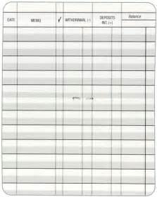card register template debit card register