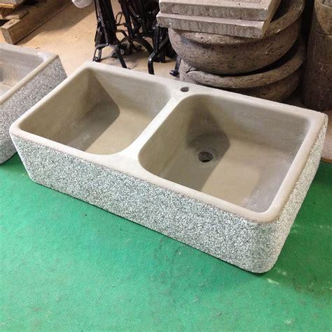 lavello in cemento lavandino lavello in cemento grigio granigliato 2 vasche
