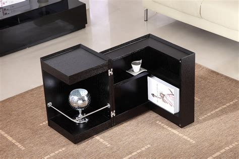 coffee bar tables contemporary coffee end table with mini storage bar inside