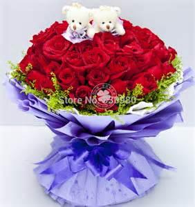 Flower Delivery Express Aliexpress Com Buy 99 Roses Flower Shop Order Flowers