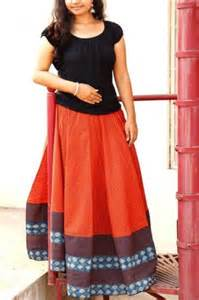Jaipur Home Decor Rust Zig Zag Block Printed Skirt Top Set Online Shopping