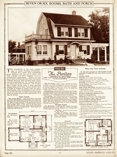 quot the puritan quot colonial revival sears catalog homes
