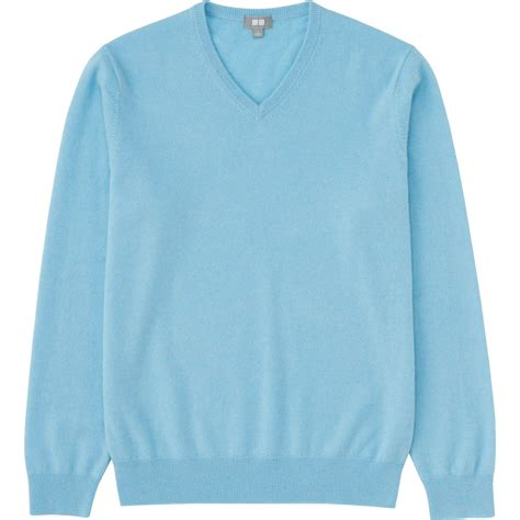 Light Blue Sweater by Uniqlo V Neck Sweater In Blue For Light