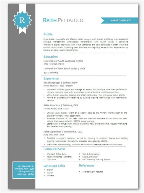 modern word resume templates modern microsoft word resume template resume templates