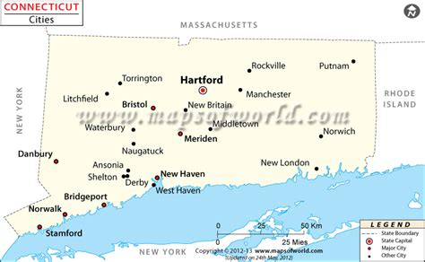 towns in usa cities in connecticut connecticut cities map