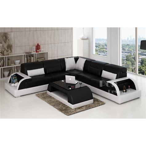 canape noir et blanc photos canap 233 d angle cuir blanc et noir