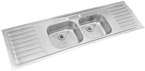 double drainer kitchen sinks pyramis double bowl double drainer sink large sink