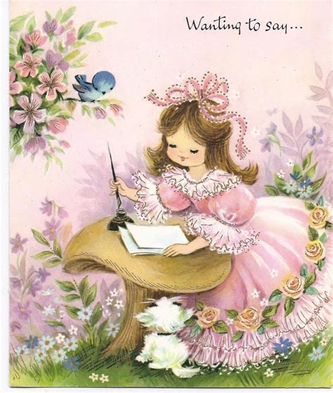 vintage card writing to a friend pics
