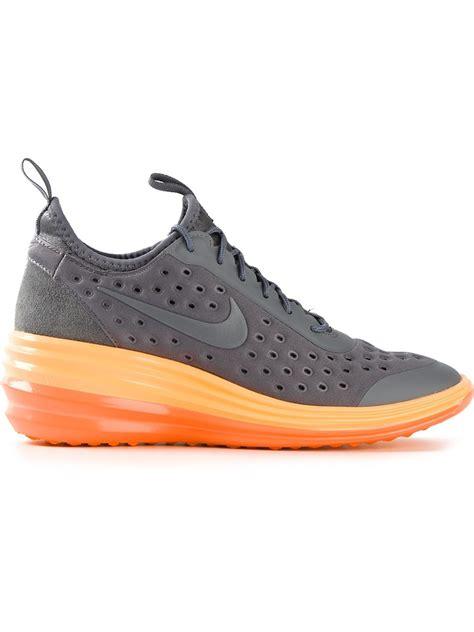 nike sky high sneakers nike lunarelite sky high sneakers in gray grey