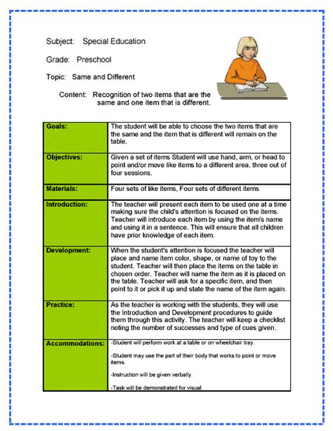 inclusion lesson plan template lesson plans for special ed tourorkhiyayeva