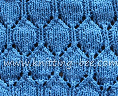 how to use a knitting bee oval lace pattern free knitting stitch knitting bee