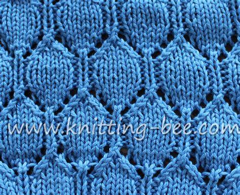 lace knitting stitch patterns oval lace pattern free knitting stitch knitting bee