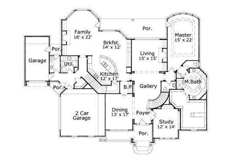 5000 square foot house plans 5000 square 4 bedrooms