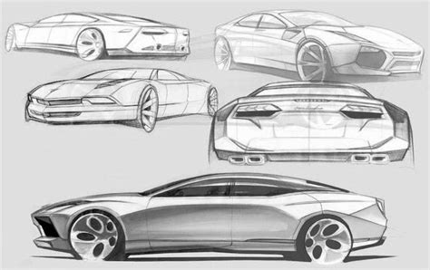 Lamborghini Sketch 4 Door Lamborghini Estoque Sketches