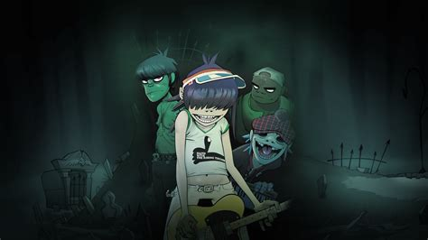 wallpaper cartoon rock cartoon rock band from gorillaz wallpapers and images