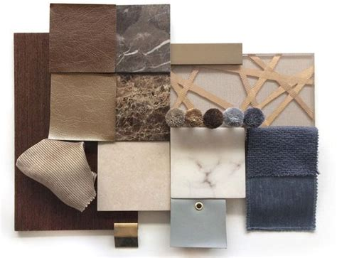 material palette textiles metals marble earthy
