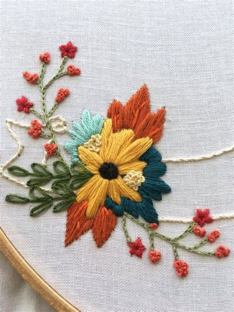 flower pattern embroidery floral ribbon hand embroidery pattern beginner by