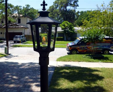 outdoor gas l post outdoor electric post lights made in usa 82 quot cape