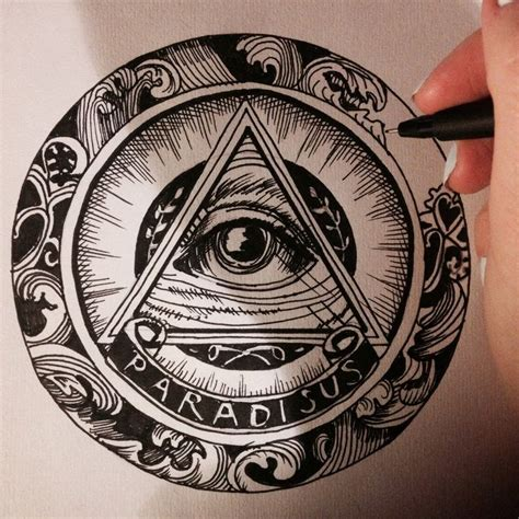 all seeing eye hand drawing tatoos pinterest search