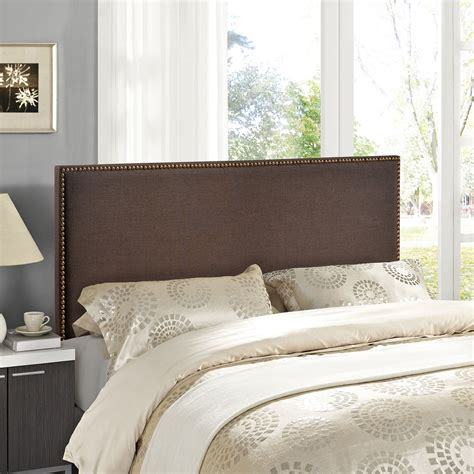 upholstered headboard nailhead region queen nailhead upholstered headboard dcg stores