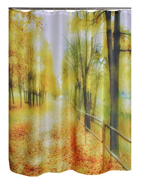 washable shower curtains boulevard road printed bathroom curtain polyester fabric