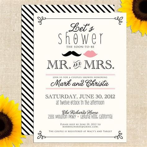 Couples Bridal Shower Invitations by Best 25 Couples Wedding Shower Invitations Ideas On
