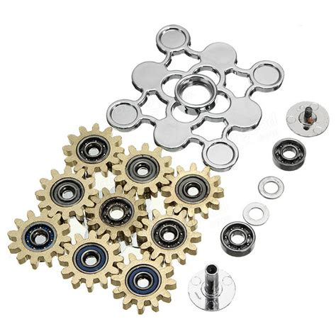 Fidget Spinner Gear Ex 9 ecubee edc 9 gear spinner brass fidget spinner finger