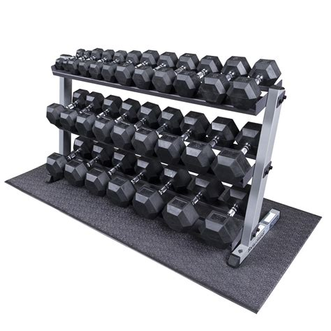 Dumbell 1 Set Heavy Duty Rubber Coated Dumbbell Set With Rack 5 70 Lbs Pairs Solid Work Out Wear