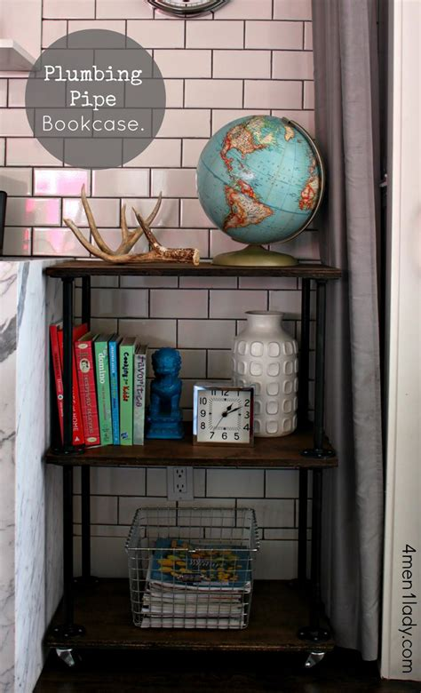 diy plumbing pipe bookcase i could make that furniture