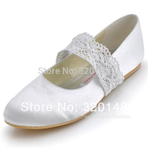 white satin flat shoes free shipping ep8009 plus size 35 43 white ivory toe