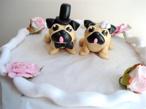 pug cake decorations pug cake toppers wedding keepsake cake decoration wedding decor wedding cake topper