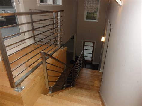 Outdoor Banisters And Railings Stainless Steel Horizontal Railing Contemporary