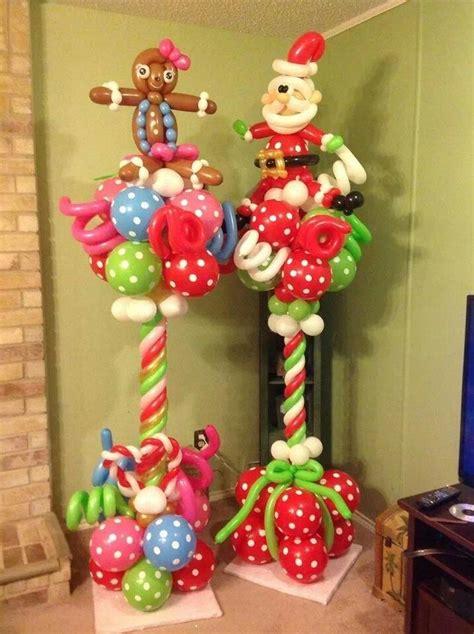 christmas column balloon columns columnas globos