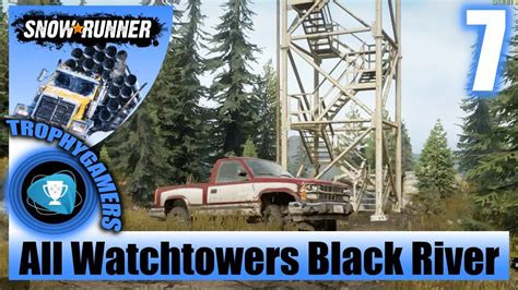snowrunner  watchtowers  black river michigan