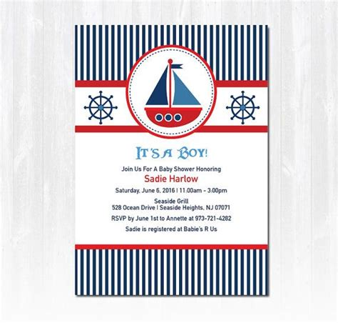 Diy Nautical Baby Shower Invitations by Best 25 Sailboat Baby Showers Ideas On