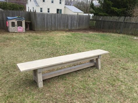 4x4 bench ana white 4x4 truss table and benches modified diy