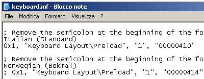 keyboard layout preload creare un cd di avvio di emergenza con bart s pe builder