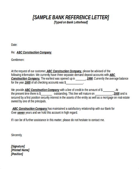 Recommendation Letter Sle For Bank Loan 18 Reference Letter Template Free Sle Exle Format Free Premium Templates