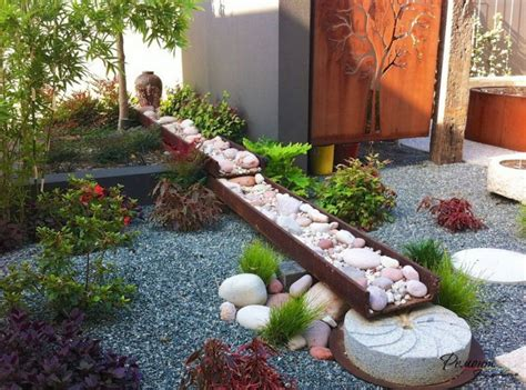 backyard pebbles garden design ideas with pebbles