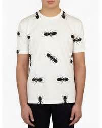 White Smtb Print T Shirt kitsune maison kitsun contrast print where to buy