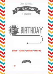 18 Birthday Invitation Templates by Free Printable 18th Birthday Invitation Template Drevio