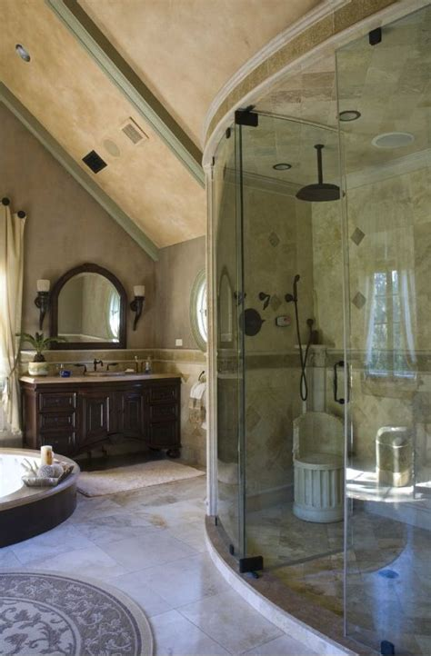 luxury master badezimmer luxurious bathroom with shower enclosure