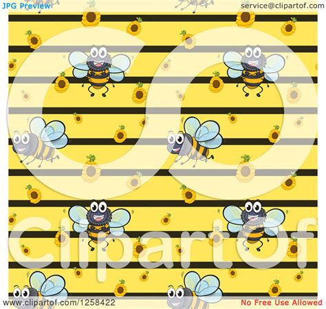 pattern hive illustrator clipart of a seamless bee and hive background pattern